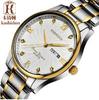 Card poem authentic watches Ultra-thin business men's watch Stainless steel waterproof quartz watch men Men's watch