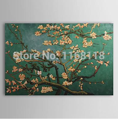 100% mão- pintado pintura a óleo impressionista ramos de uma amendoeira em flor paisagem obra-prima vincent van gogh reprodução(China (Mainland))