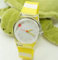 2014 new watch Wristwatches simplicity Yellow stripes fashion watch women dress watches quartz watch + free shipping
