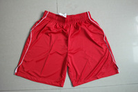Free Shipping 2014 Top thailand Quality 14 15 Liverpool Red Running Soccer Shorts Liverpool Home Embroidery LOGO Sportswears