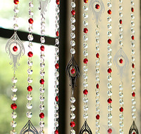 Free shipping Finished product 10m Ombre stainless steel crystal bead curtain can be customized porch partition door curtain
