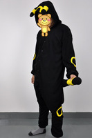 Novelty Halloween Party Cosplay Costumes Cartoon Anime Umbreon Adult Unisex Winter Party hooded warm Pajamas with Ears Tails