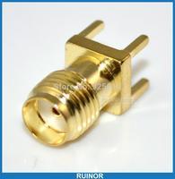 20pcs/lot PCB mount SMA female plug straight connector