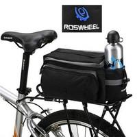 Holiy Multi-functional Waterproof Black Bicycle Cycling Rear Seat Trunk Bag Shoulder Handbag Bag Pannier outdoor bags