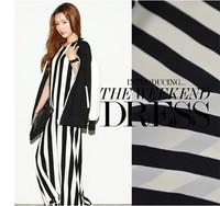 Designer stripe silk crepe de chine fabric 100% silk satin cloth 16momme for summer spring clothes DIY