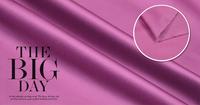 Matt cotton satin fabric luxury stretch cotton cloth hot pink purple 168g/meter