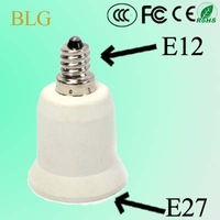 Free Shipping! 50/Lot E12 to E27 adapter E12 to E27 lamp Base Socket Adapter LED Light Holder Converter