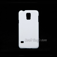 Free Shipping!Blank DIY 3D Sublimation White Cases for Samsung Galaxy  S5