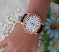 Geneva Watches, Leather Fashion Classic Women Girls Quartz Watch, Watch For Christmas