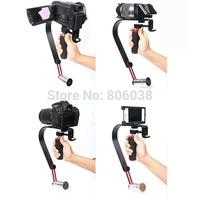 Video Stabilizer Handheld Handle Cam Grip Steadicam for DV Camcorder DSLR Camera Free shipping