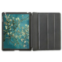 Retro Van Gogh Flower Protective Smart Cover Leather Case For iPad 2 3 4/iPad 5 Air/iPad Mini