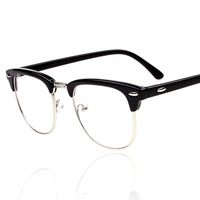 New 2014 Vintage Glasses Women Brand Designer Half Frame Round Retro Glasses Men Classic Optical Eyewear Oculos Gafas