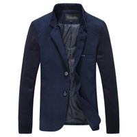 Free shipping 2014 New Spring Autumn fashion casual blazer men winter jacket men high-grade velvet jacket for man