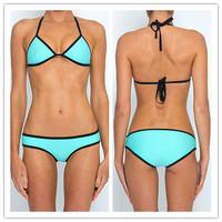 Free Shipping 5 Colors Swimwear Neoprene Bikinis Set Women,maillot de bain,Swimsuit Set biquini Woman bathing suits