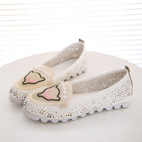 2014 spring and summer transparent jelly color comfortable flat reticular flat heel soft heel Moccasins single shoes,SHO2143