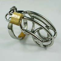 High quality Male Cock Cage Stainless Steel Chastity Device Metal Belt Sex toys