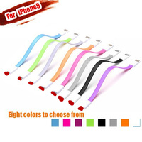 5pcs/lot Colorful USB Charger Data Sync Cable Magnet Short 8 Pin Cable 22CM Cord for iOS7 iPhone 5/5c/5s iPad Air Mini