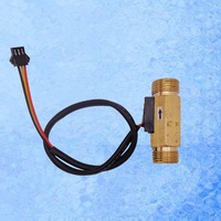 """Sample 60mm Total Length USC-HS21TH brass body hall water flow sensor 1-30L/min BSP 1/2"""" DN15mm for Drinking Machine Coffee"""