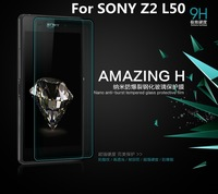 Genuine NILLKIN Amazing H Nanometer Anti-Explosion Tempered Glass screen protector For SONY Xperia Z2 L50 L50W with Retail Box