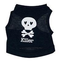 2014 New Brand Summer Dog Clothes/Punk Style Skull Killer Print Pet Cothes/Desiner Dog Supplies