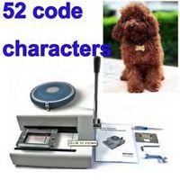 Wholesale High Qualtiy Dog Tag Embosser Machine 52Code Chatacters,Steel Embossing Machines,Manual Stainless Steel Card Embosser