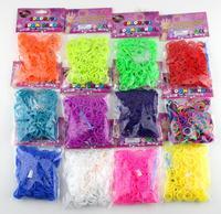 "Colorful DIY Weaving Rubber Bands Loom Bracelet Amazing Gift Children Single handmade 300 PCS/set +12 PCS ""S"" wholesale"