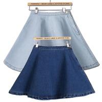 Spring and summer denim skirt 2014 high waist short skirt female denim a-line skirt female bust skirt sheds