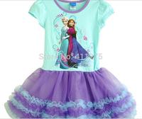 Retail children clothes kids clothing, girls dresses, girl summer  Frozen Elsa Anna tutu dress