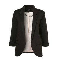 Hot Sale XS-XXL Three Guanter Sleeve Multicolor Candy Color Suit Jacket Korean Female Slim Blazer Coat Brand Top Plus Size