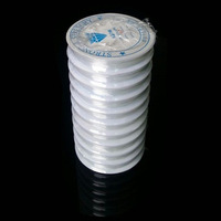 1mm Thickness 5Meters/Roll.With Spool,10 Rolls/Lot.Translucent Crystal Beading Elastic Cord Stretch String/Wire,Free Shipping