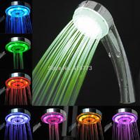 LED Rain Bathroom Shower Head Hand Shower With Romantic Changing Randomly 7 Colors Rainfall Light Free Shipping