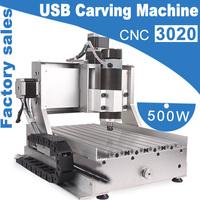 2014 NEW Factory Sales USB CNC 3020 Trapezoidal Screw Carving Machine 500W  Air cool engraving machine CNC 3020 Cutting Machine