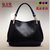 2014 new crocodile pattern leather handbags fashion handbags  shoulder bag tide LH