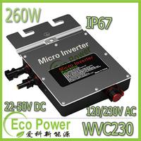 IP67 DC22V~50V 260W MPPT Grid Tie  micro inverter