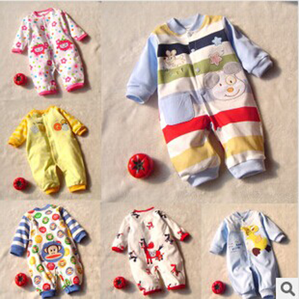 2014 Winter Newborn Baby Girls Boys Carters Rompers Baby Romper Body Suit Cartoon Long Sleeve
