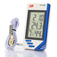 Digital LCD Indoor & Outdoor Temperature Humidity Tester Clock Thermometer Hygrometer Meter KT-908