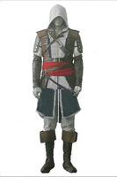 Asassins Creed 4 Black Flag Edward Cosplay Costume XXS-6XL
