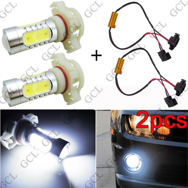 2pcs High Power White H16 5202 5201 COB LED Bulbs DRL Fog Light + Canbus Decoder(China (Mainland))