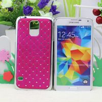 Fedex 100pcs for S5 New shining stars Chrome Rhinestone High quality Skin Hard Cover Case for Samsung S5 I9600 ,pt0404