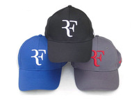 Free Shipping Roger Federer Cap Tennis Hat with Black / Red / White / Blue and Yellow