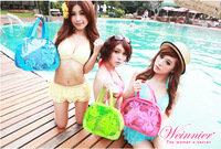 The whole network pvc waterproof women's underwear bags transparent swimming bag portable wash bag 306105
