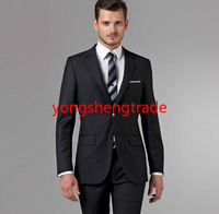 Classic Men Business Suit Custom Made Black Business Suit Perfect Everyday Suit Wearable For Any Occasion Wool Suit MS0366