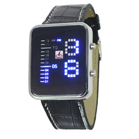 2014 men's fashion electronic calendar watches, LED watch sports watches, leisure square dial leather strap watches.