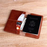 Hot! Free shipping 100%genuine leather Travel passport credit bank ID card cash holder organizer wallet purse wholesale/retail