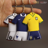 Wholesale 2014 world cup cute team jersey key chain Brazil Germany Portugal France Argentina Italy England  Netherlands Spain
