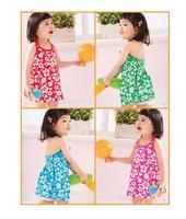 2013 Summer Flower Dresses Children Kids Clothing Beach Design HOT Selling