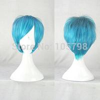 Anime Akuma no Riddle Azuma Tokaku Blue Black gradient Cosplay Costume Short Wig