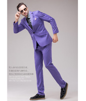 Bright colors suit set Male suit multicolour purple suit formal dress men's clothing formal dress