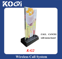 K-G2 Customer Calling Buzzer for Service with menu holder use in cafe restaurant