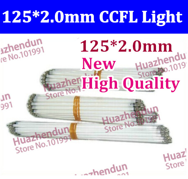 Free shipping 30pcs 125 MM length LCD CCFL lamp backlight , CCFL backlight tube,125MMx2.0mm, 125MM length CCFL(China (Mainland))